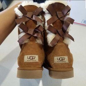 Ugg Tan Bailey Bow Boots